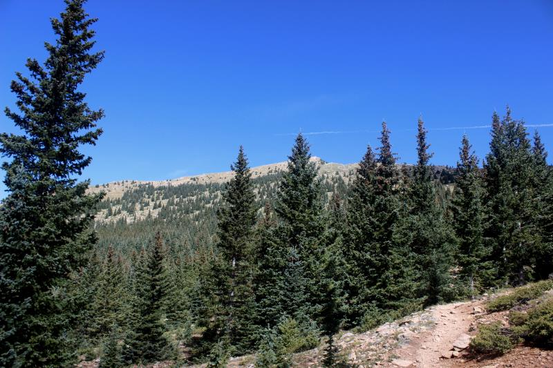 Santa Fe Baldy seen from trail