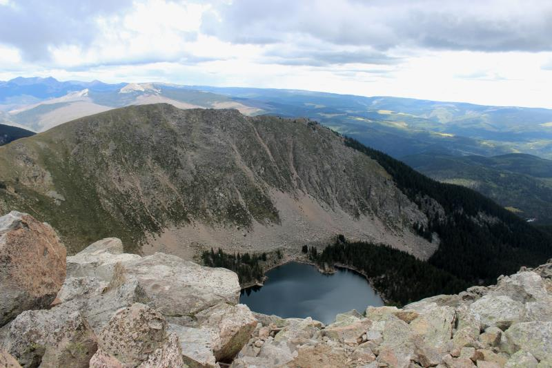 Lake Katherine seen from summit of Santa Fe Baldy