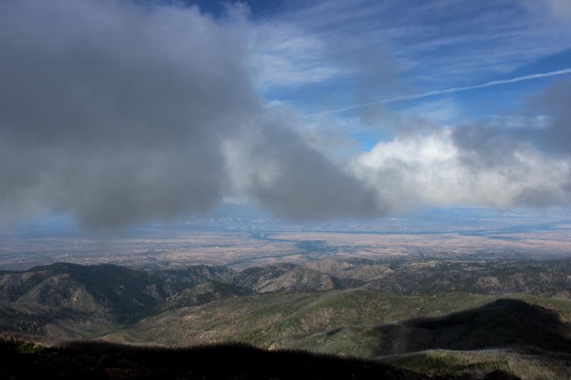 View from summit of Santa Fe Baldy