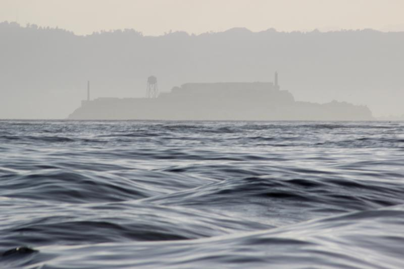 Alcatraz Island seen departing from San Francisco Marina.
