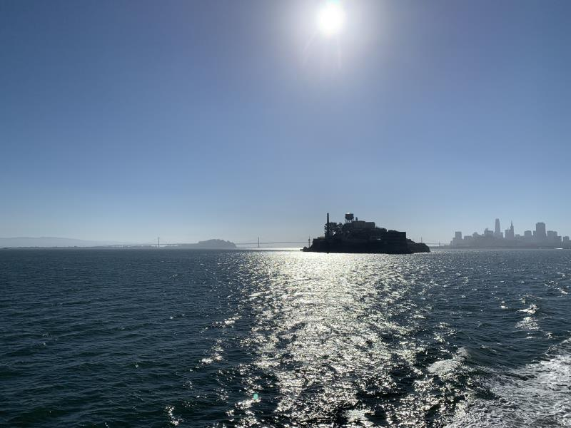 Alcatraz seen from Ferry to Angel Island