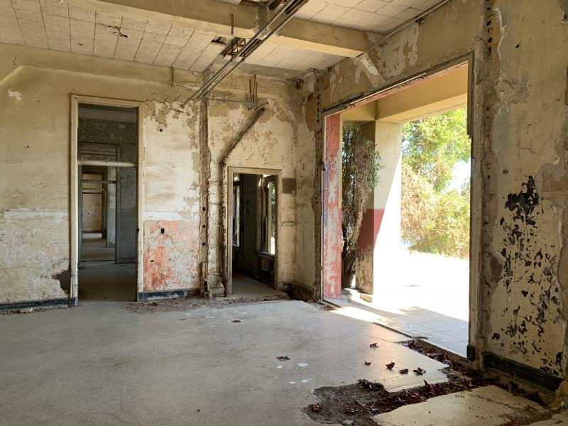 Inside hospital on Angel Island