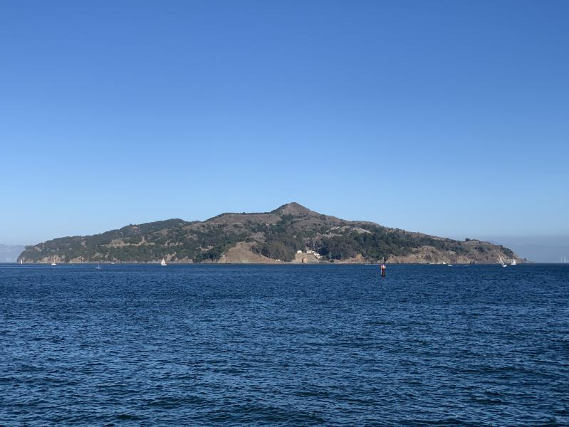 Angel Island seen from Ferry