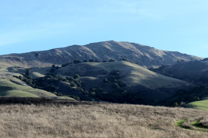 Mission Peak seen near trailhead