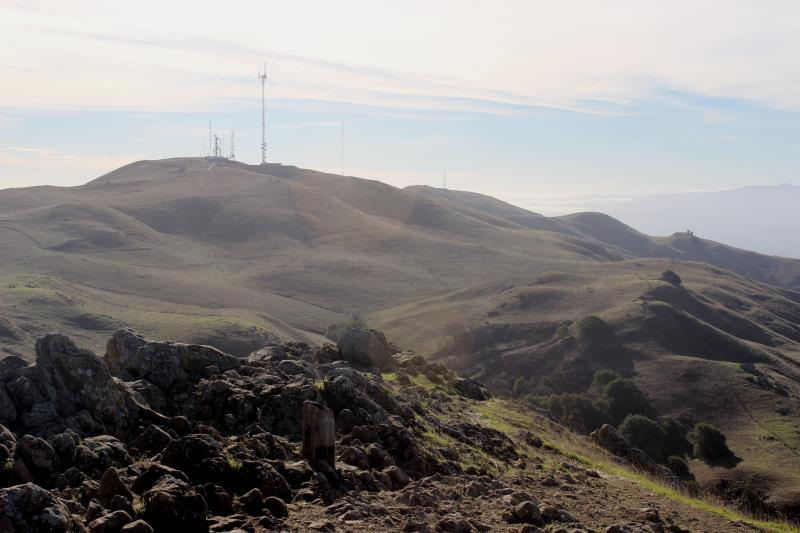 Tower seen from summit of Mission Peak