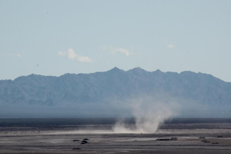 Dust storm seen from Amboy Crater rim