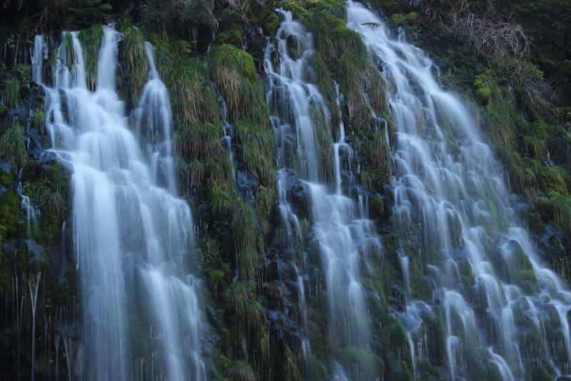 Mossbrae Falls up close