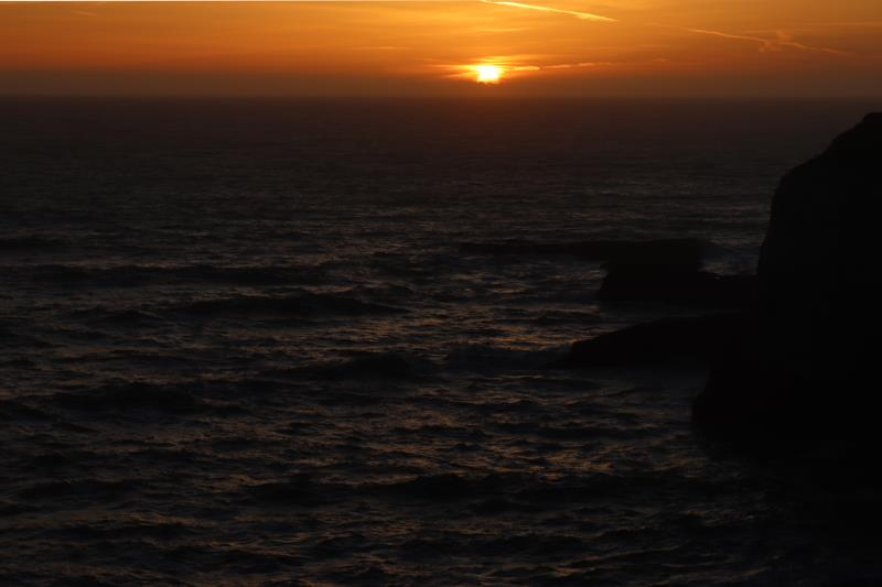 Sunset seen near Shark Fin Cove