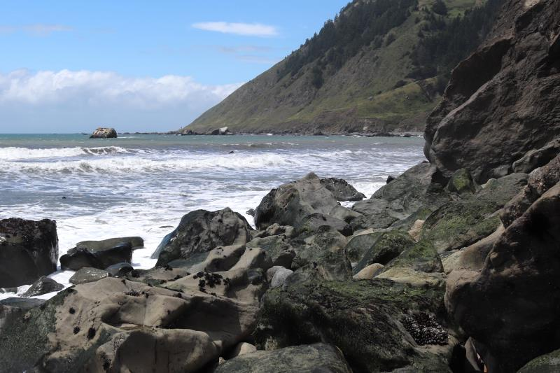 Punta Gorda Lighthouse in distance on Lost Coast Trail