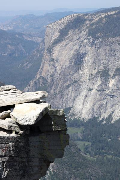 Rock ledge at summit of Half Dome