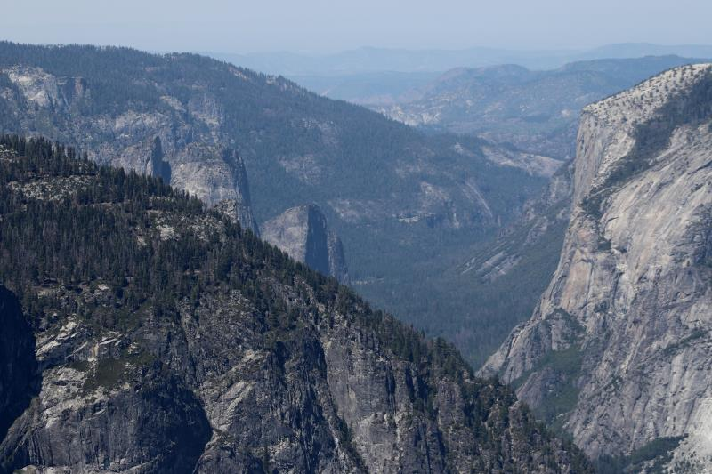 View from top of Half Dome