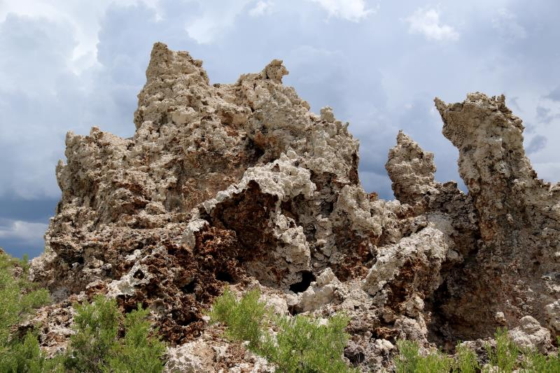 Mono Lake tufa towers up close
