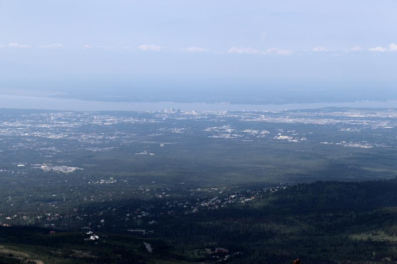 Anchorage seen from Flat Top Mountain