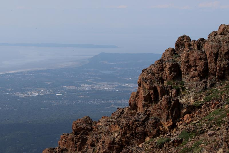 Rocks and Anchorage seen from Flat Top Mountain
