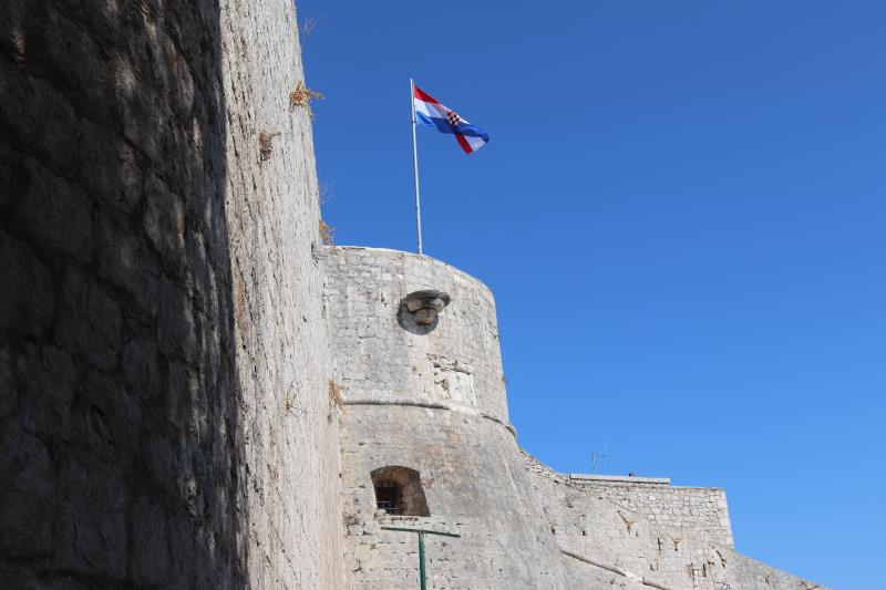 View of flag on fortress