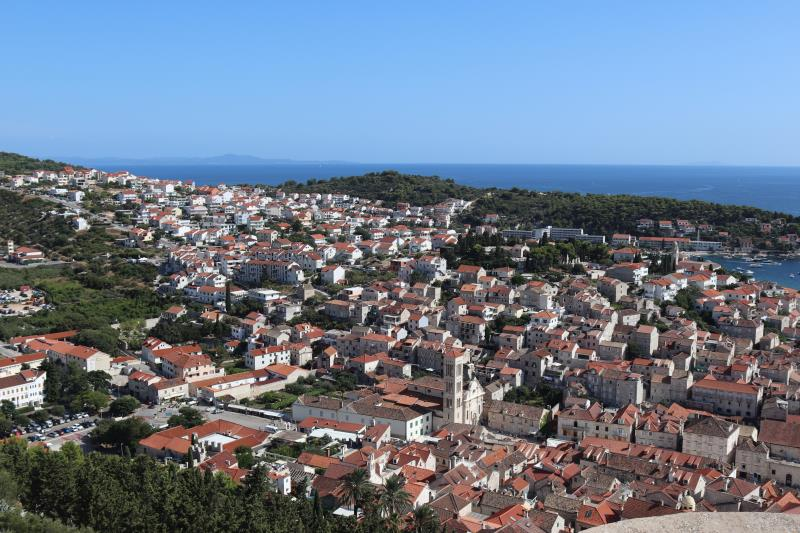 View of Hvar Town from fortress