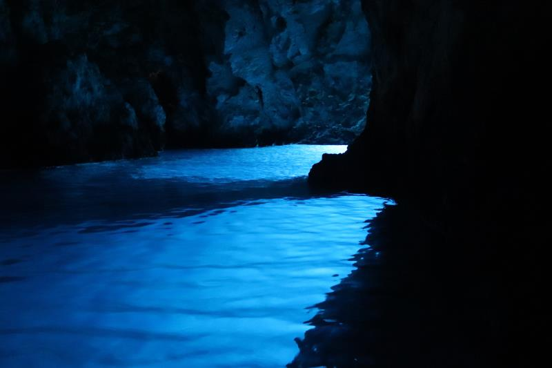Inside Blue Cave