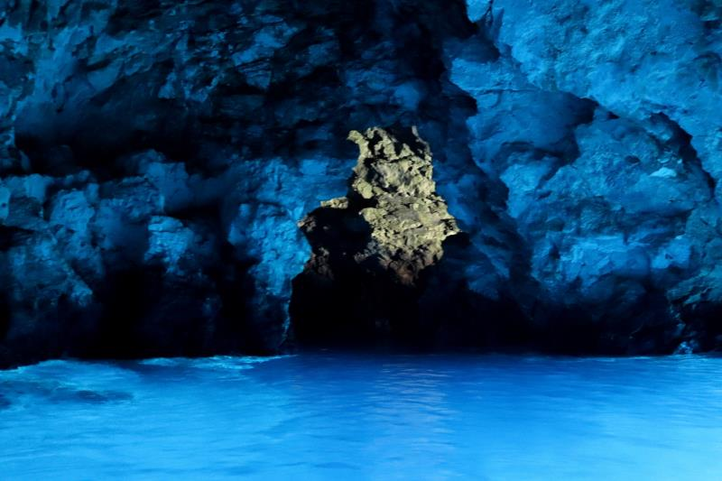 Inside Blue Cave looking at alternative entrance