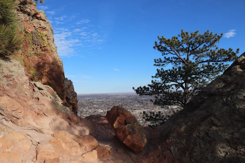 View of Boulder on way up Mt. Sanitas
