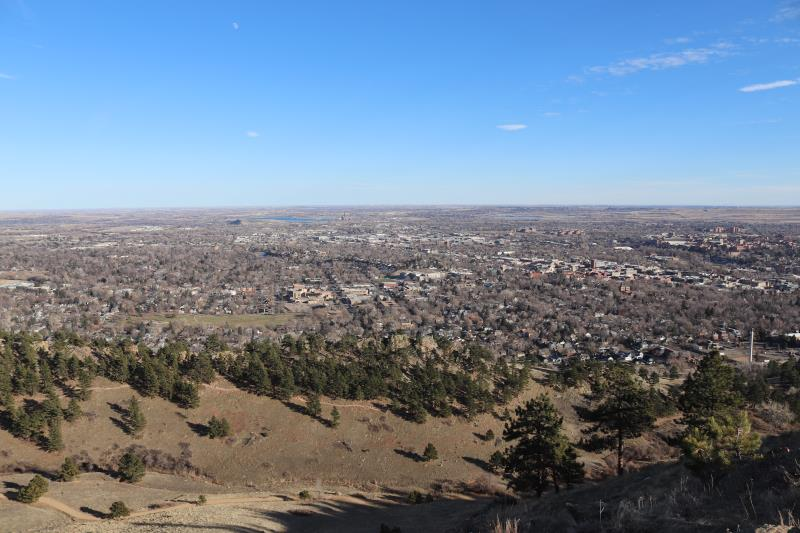 View of Boulder at summit of Mt. Sanitas