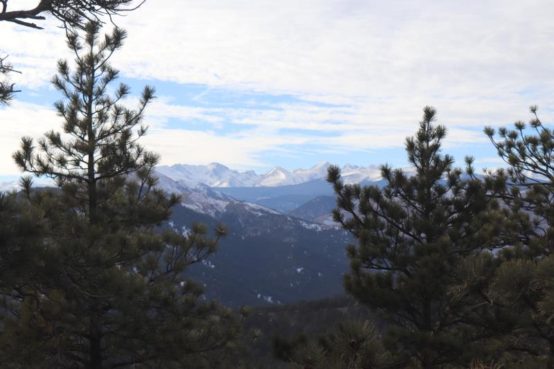 View of mountains from summit of Mt. Sanitas