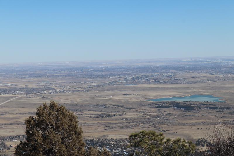 Boulder seen from summit of Green Mountain