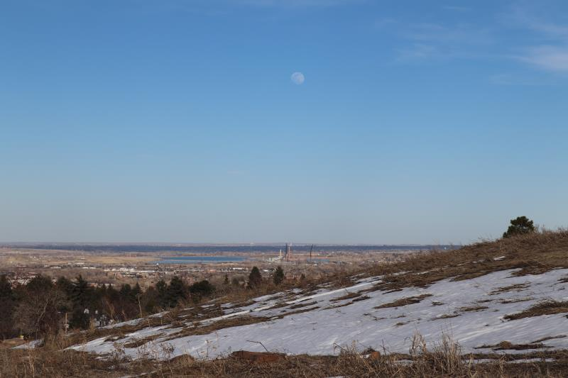 View of moon in Chautauqua Park