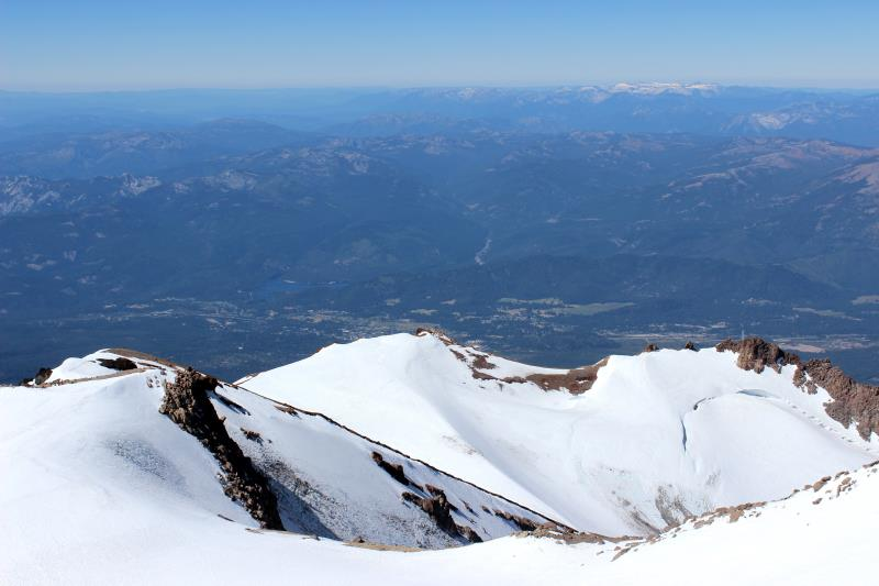 View from summit of Mt. Shasta