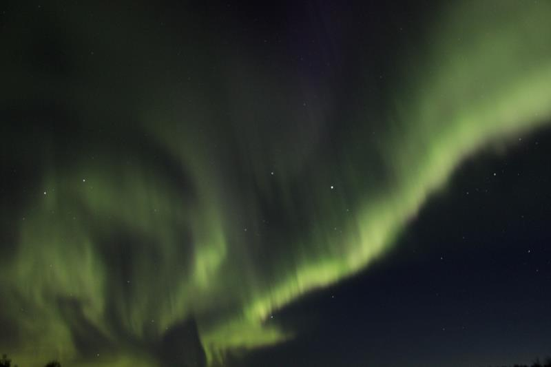 Aurora in the sky from Chena Lakes