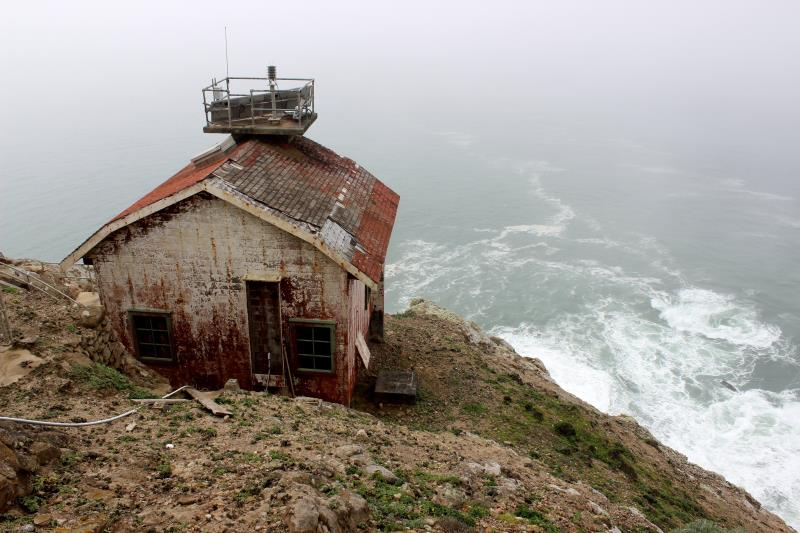 Building behind Point Reyes Lighthouse