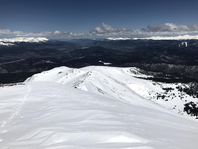 View of Frisco and Lake Dillon from Bald Mountain