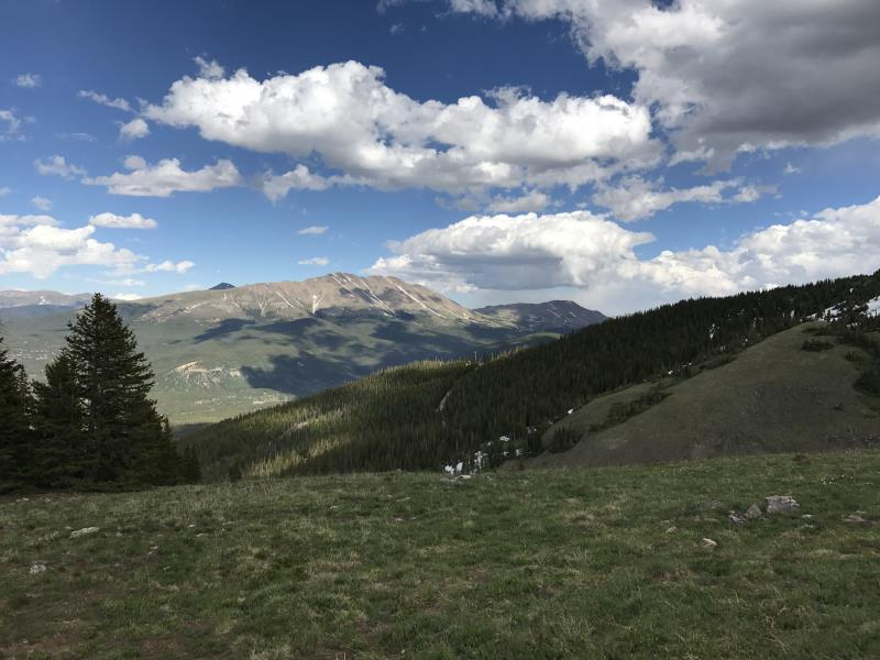 Looking at Bald Mountain in Breckenridge