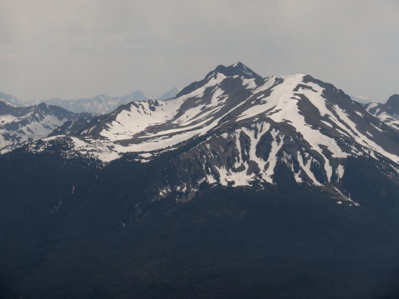 Summit view on Ptarmigan Peak