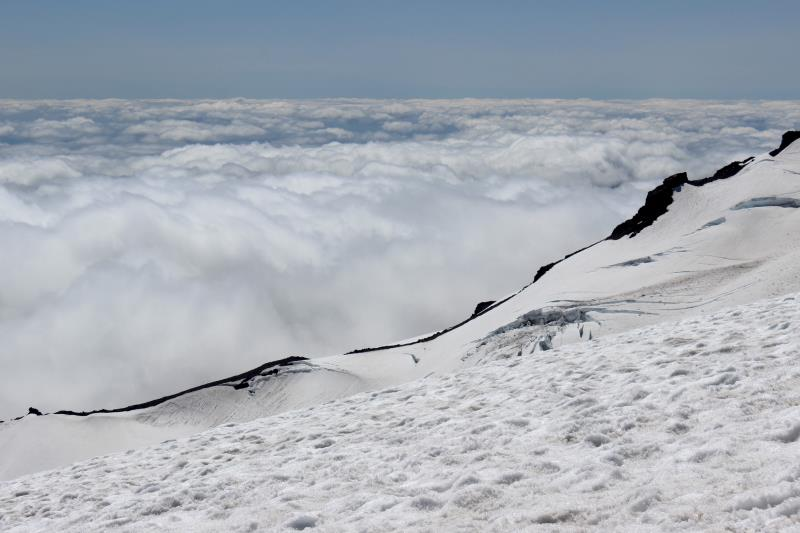 Above the clouds at Camp Muir