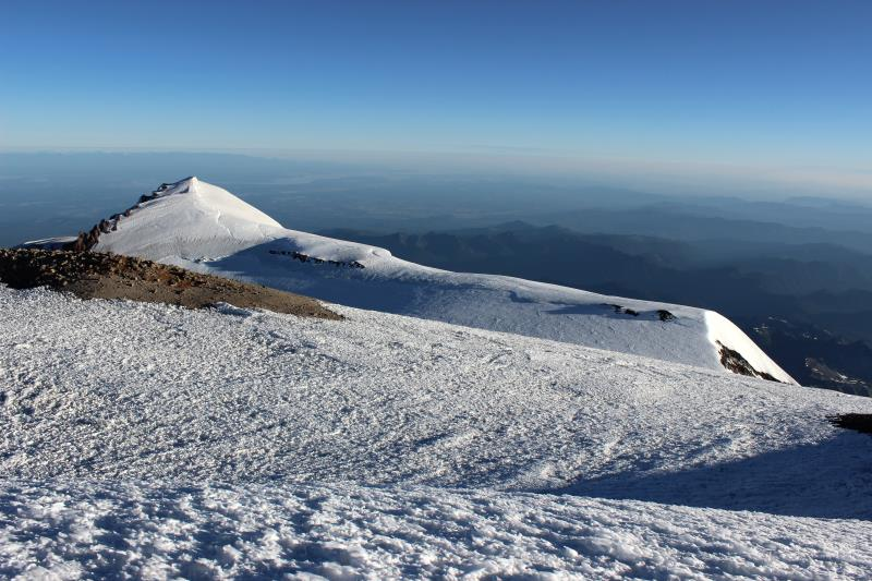 View from Columbia Crest, true summit of Mt. Rainier
