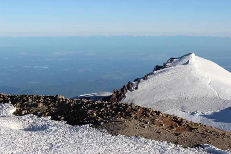 Closer view from Columbia Crest, summit of Mt. Rainier