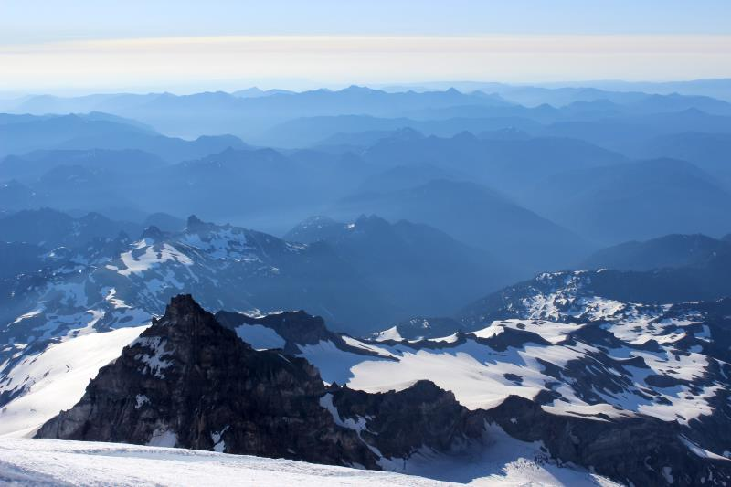 View while descending Mt. Rainier
