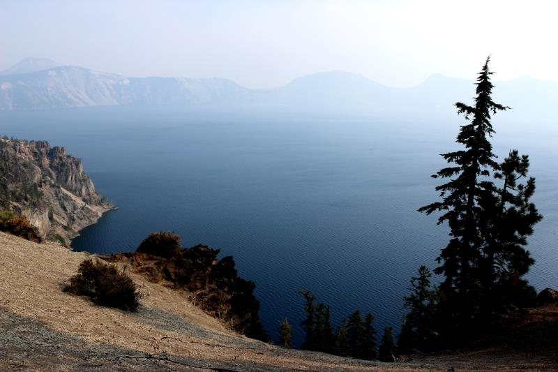 View of Crater Lake near entrance