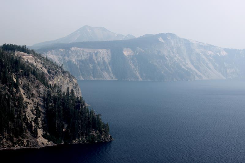View of Crater Lake near trailhead