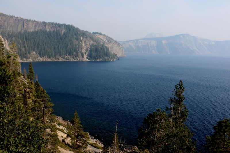 View descending to Crater Lake