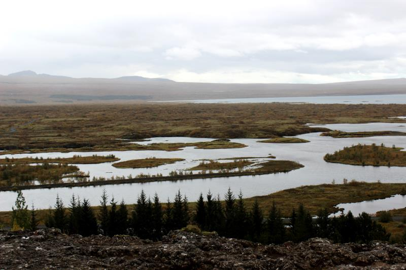 View of Þingvellir, the site of Iceland's parliament from the 10th to 18th centuries