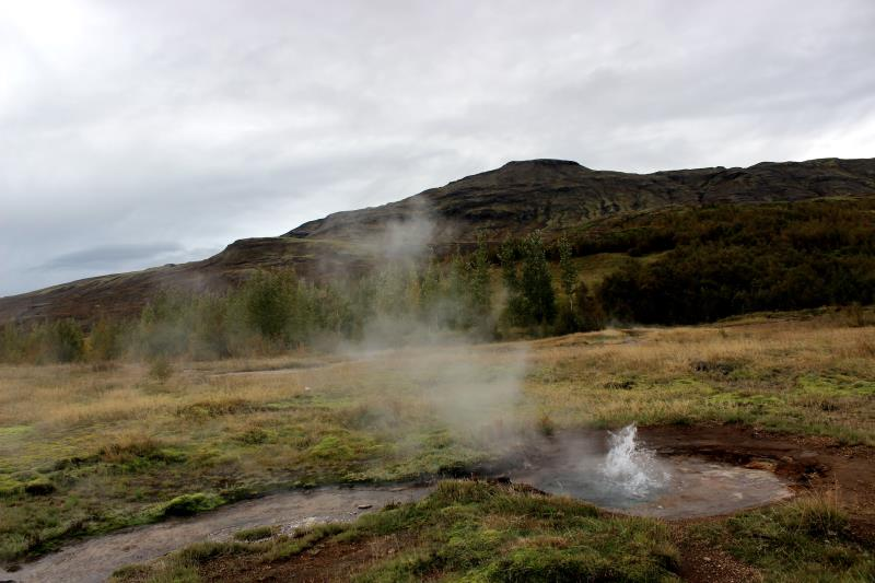 View of Litli at Geysir