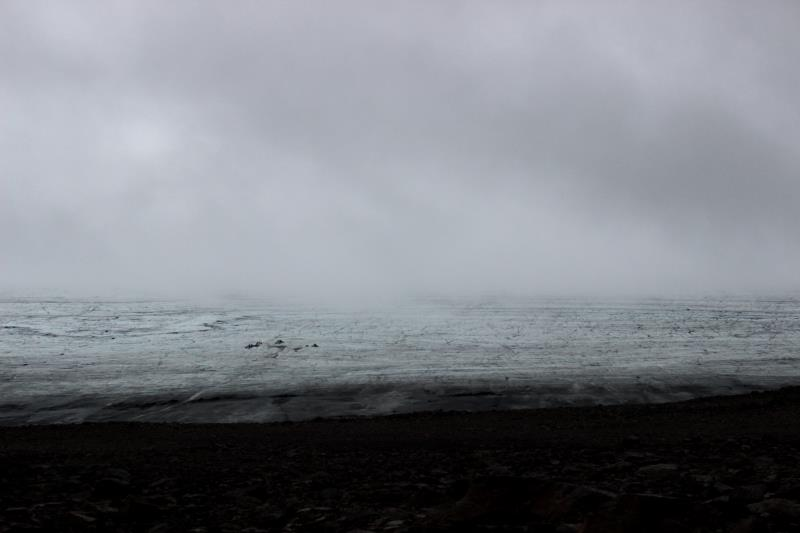 Langjokull Glacier in the fog