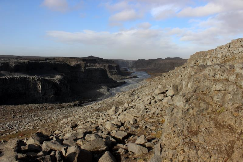 View of river created from Dettifoss