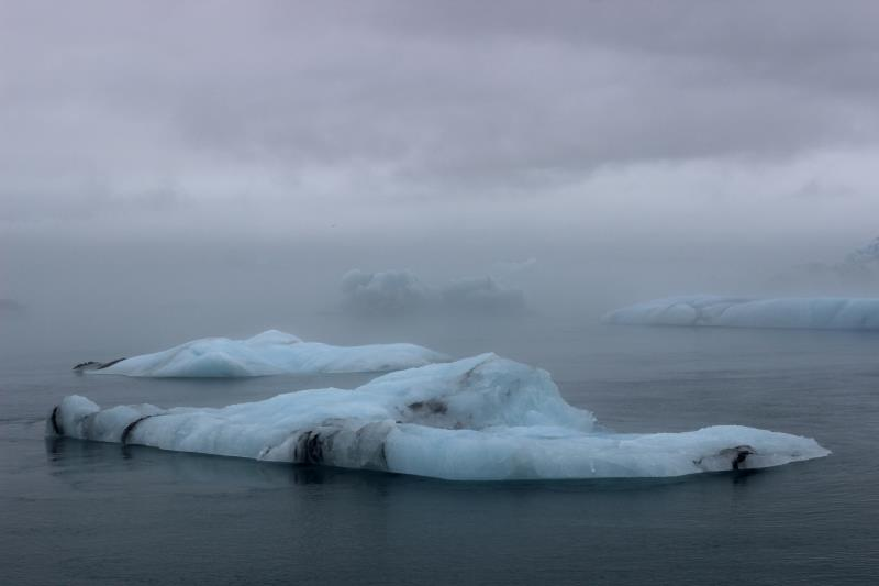 Iceberg seen from land