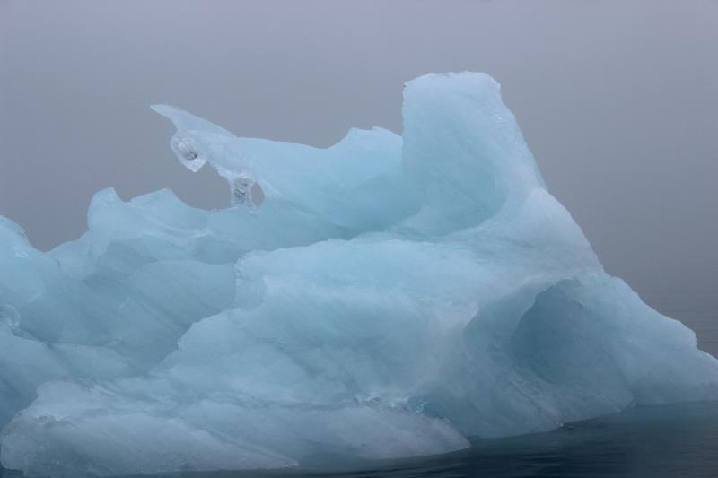 Close up of iceberg seen from boat