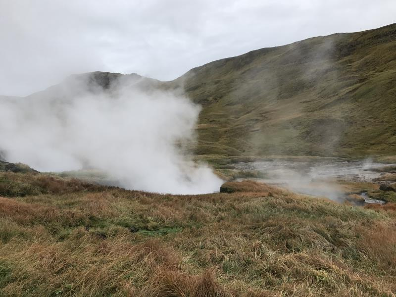 Steam from vents seen walking away