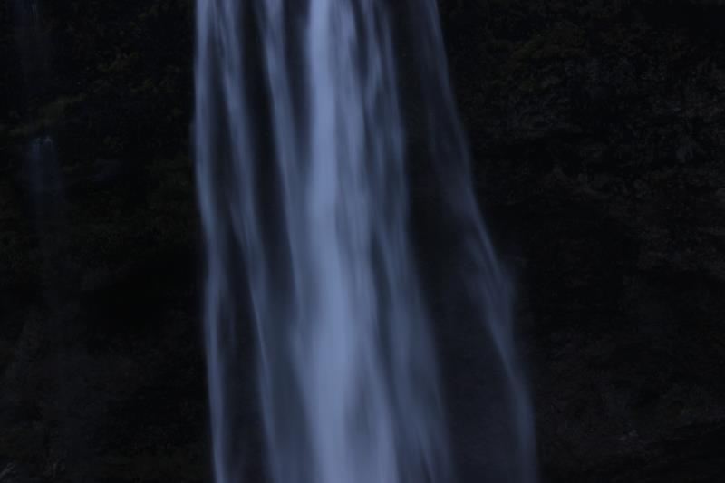 Close up of Seljalandsfoss after sunset