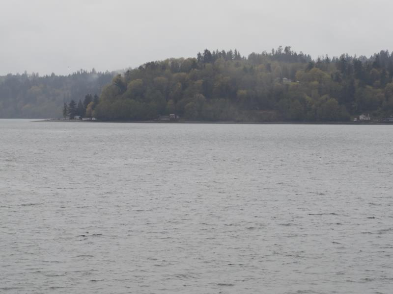 View from ferry approaching Vashon Island