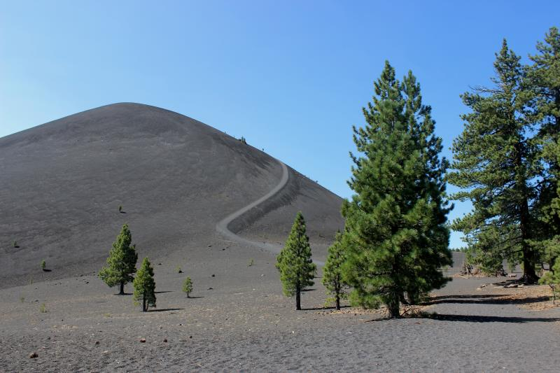 Cinder Cone and trail to top of it